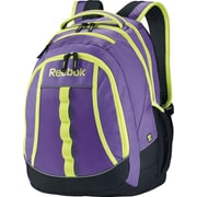 Reebok Thunderchief Backpack, 15.6 laptop/H20 Hydration System,  Purple/Yellow