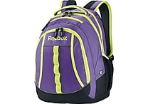Reebok Thunderchief Backpack, 15.6' laptop/H20 Hydration System, Purple/Yellow