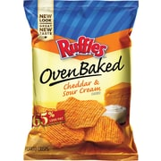 Baked! Ruffles® Cheddar & Sour Cream Potato Chips, 1.125 oz. Bags, 64 Bags/Box