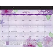 2015 AT-A-GLANCE® Beautiful Day Large Desk Pad, 21 3/4 x 17