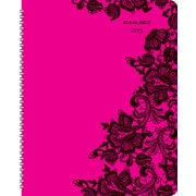 AT-A-GLANCE® Madonna Lace Professional Weekly/Monthly Planner, 13 Months, 8 1/2 x 11, 2015