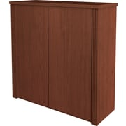 Bestar Prestige+ 2-Door Cabinet for Assembled Lateral, Cognac Cherry