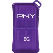 PNY MicroSleek USB Flash Drive, 8GB, Purple