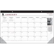 2015 AT-A-GLANCE® Wounded Warrior Compact Monthly Desk Pad, 17 3/4 x 10 7/8