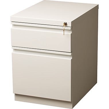Staples 20in. Deep, Heavy Duty Mobile Pedestal File, White