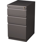 Staples 20 Deep, 3-Drawer, Mobile Pedestal File, Medium Tone