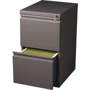Staples 20 Deep, 2-Drawer, Mobile Pedestal File, Medium Tone