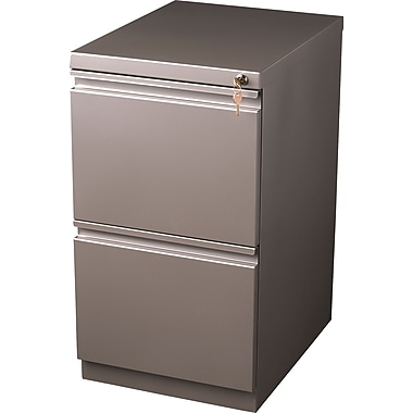Staples 2-Drawer Mobile Pedestal File Cabinet, Metallic Bronze (20-Inch)