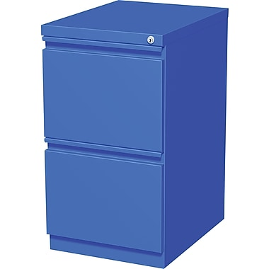 Staples20in. Deep, 2-Drawer Mobile Pedestal File, Blue