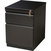 Staples 2-Drawer Heavy Duty Mobile Pedestal File Cabinet, Black (20-Inch)