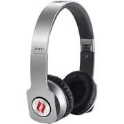 Noontec Zoro Professional Steel Reinforced SCCB Sound Technology Headphones, Silver