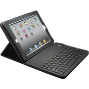 Aduro Facio Case with Bluetooth Removable Keyboard for iPad 2/3/4, Black
