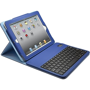 Aduro Facio Case with Bluetooth Removable Keyboard for iPad 2/3/4, Blue/Turquoise