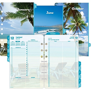 2015 Day-Timer® Two-Page-Per-Day Coastlines® Refill, Size 4, 5 1/2in. x 8 1/2in.