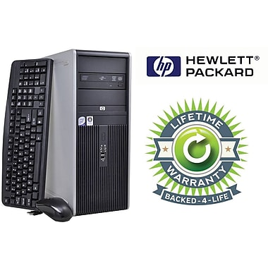 Refurbished HP Compaq C2D Tower, 160GB Hard Drive, 4GB Memory, Intel Core 2 Duo, Win 7 Pro. Lifetime Warranty