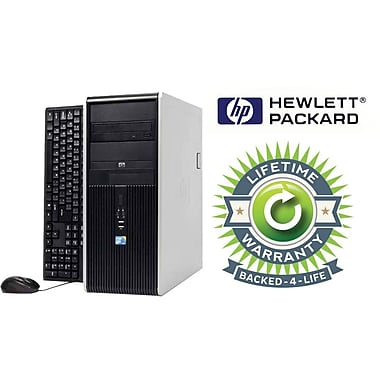 Refurbished HP Compaq C2D Tower, 120GB Hard Drive, 2GB Memory, Intel Core 2 Duo, Win 7 Pro, Lifetime Warranty
