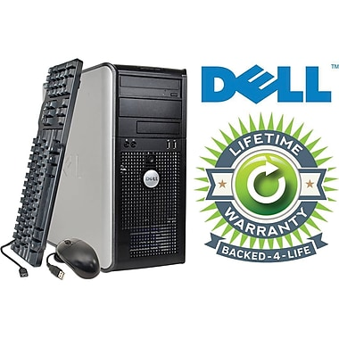 Refurbished Dell Optiplex C2D Tower, 120GB Hard Drive, 2GB Memory, Intel Core 2 Duo, Win 7 Pro, Lifetime Warranty