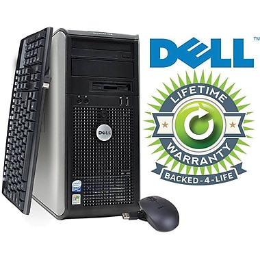 Refurbished Dell Optiplex C2D Tower, 80GB Hard Drive, 2GB Memory, Intel Core 2 Duo, Win 7 Pro, Lifetime Warranty