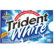 Trident White® Chewing Gum, Peppermint, 12 Piece/Pack, 9 Pk/Bx (AMC67608)