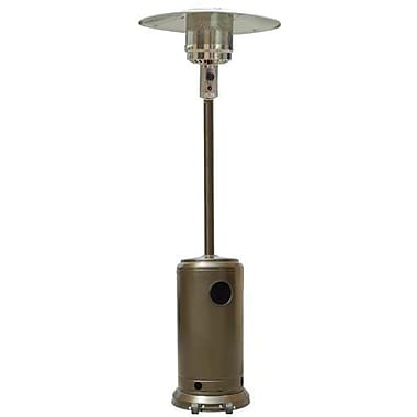 Garden Sun 41,000 BTU Outdoor Patio Heaters With Wheels, Gold Hammered