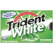Trident® White Spearmint Chewing Gum, 16 Pieces/PK, 9 PK/BX (AMC67610)