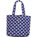 Macbeth Tote Ivy White BOHO, White/Royal