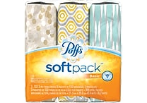 Puffs® Basic™ Soft Pack™ Facial Tissues, 2-Ply, 3/Pack