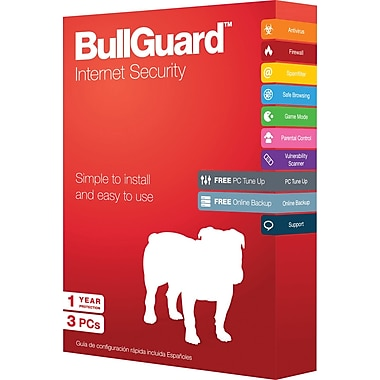 BullGuard Internet Security (3 User) (1 Year) [Boxed]