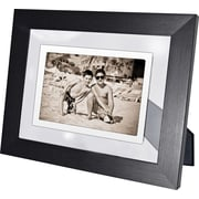 Natico Silver/Black Infinity Floating Frame, 4 x 6
