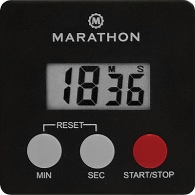 Marathon Timer with Magnetic Clip, Black