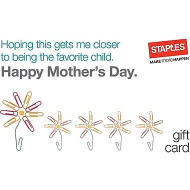 Staples® Mom Flowers Gift Cards