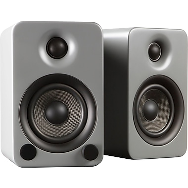 Kanto YU3 Powered Bookshelf Speakers with Bluetooth™ Technology, Matte Gray