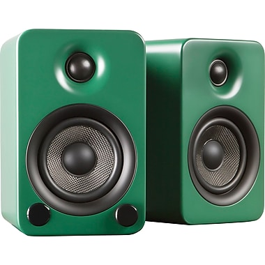 Kanto YU3MN Powered Bookshelf Speakers with Bluetooth™ Technology, Matte Green