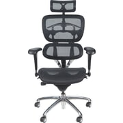Balt Mesh Executive Office Chair, Adjustable Arms, Black (34729)