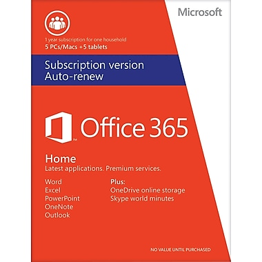 Office 365 Home, 1-year subscription (Auto Renew) [App Center]
