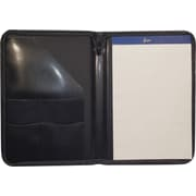 Royce Leather Zip Around Writing Padfolio, Black