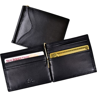 Royce Leather RFID Blocking Money Clip Wallet, Black