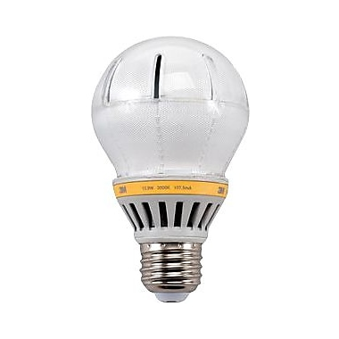 3M LED Light Bulb, A-19, 12 Watt, Soft White