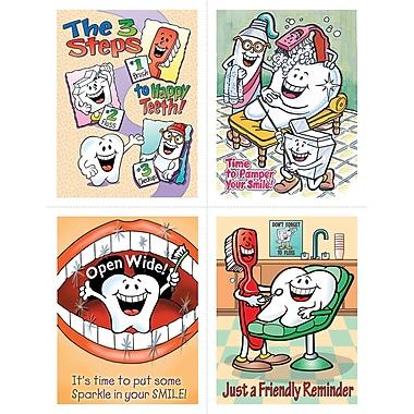 MAP Brand Dental Assorted Laser Postcards Smile Team Open Wide