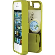 Eyn case for iPhone 5/5s with Hinged Storage Back, Chartreuse