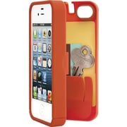 Eyn case for iPhone 4/4S with Hinged Storage Back, Orange