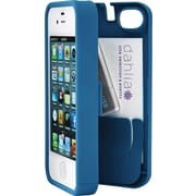 Eyn case for iPhone 5/5s with Hinged Storage Back, Turquoise