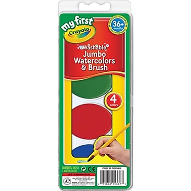 Crayola® Washable Jumbo Watercolors, 4/Pack