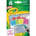 Crayola® Neon Washable Dry-Erase Crayons, 8/Pack