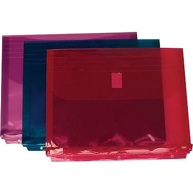JAM PaperMD – Cartable à enveloppes avec crochet et boucle de fermeture, 8 5/8 x 11 1/2 po, couleurs variées, 12/paquet