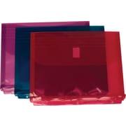 JAM Paper® 8 5/8 x 11 1/2 Binder Envelopes With Hook and Loop Fastener Closure, Assorted, 12/Pack