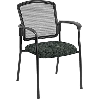 Raynor Eurotech Dakota 2 Fabric/Mesh Guest Chair, Carbon Abstract