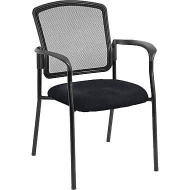 Raynor Eurotech Dakota 2 Fabric/Mesh Guest Chair, Basis Onyx