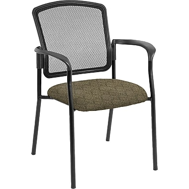 Raynor Eurotech Dakota 2 Fabric/Mesh Guest Chair, Ring Obsidian