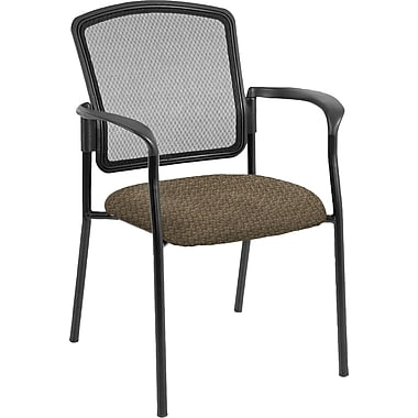 Raynor Eurotech Dakota 2 Fabric/Mesh Guest Chair, Cirque Mocha